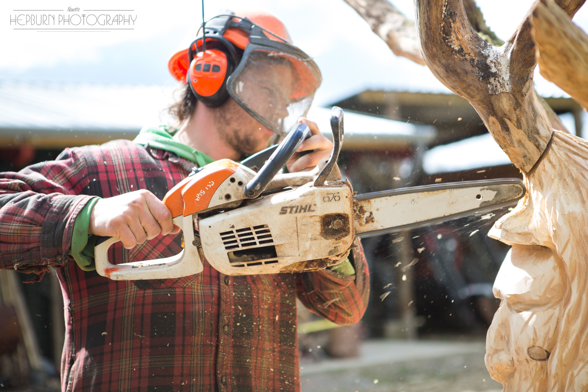 editorial photography Adam Humpherys chainsaw artist South Wales