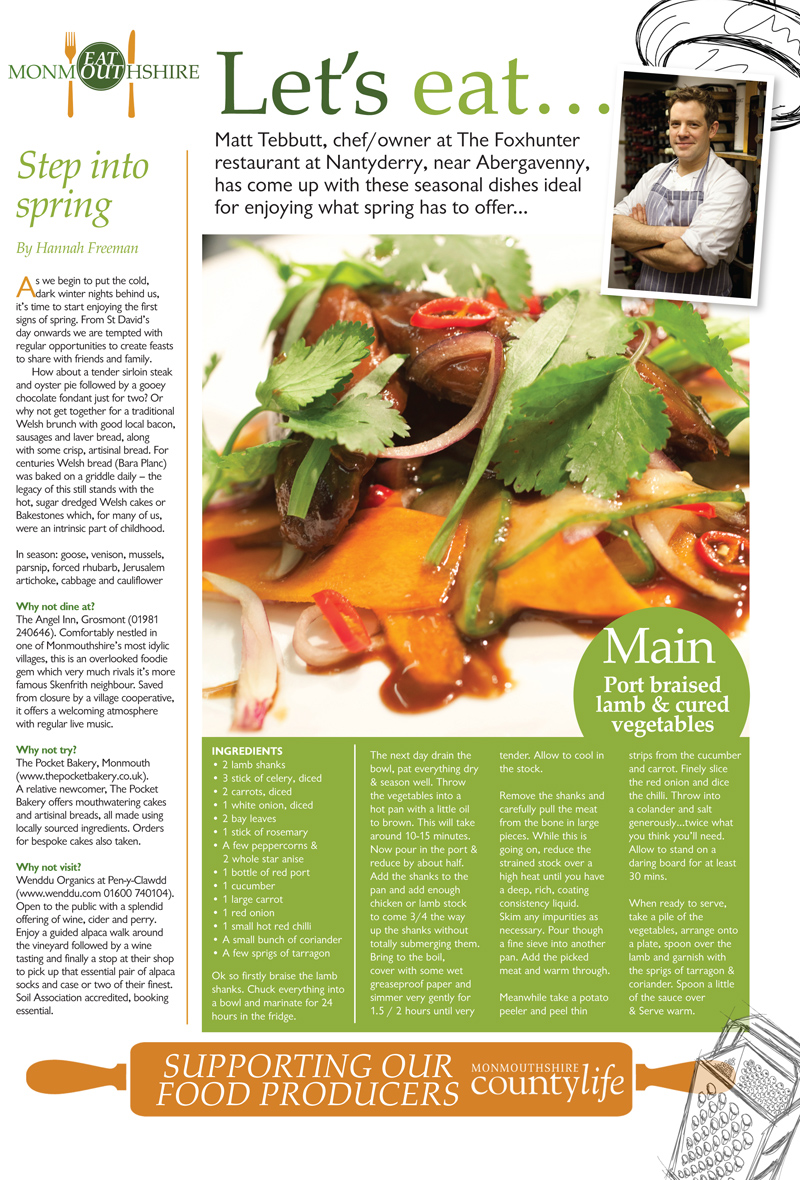 Food photography article Chef Matt Tebbutt South Wales