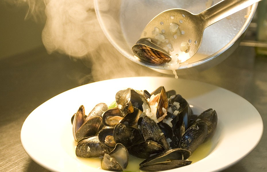Food & Commercial photography - mussels South Wales